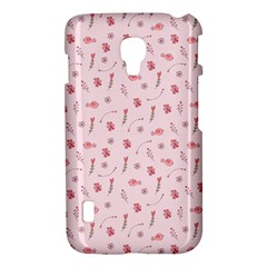 Cute Pink Birds And Flowers Pattern LG Optimus L7 II