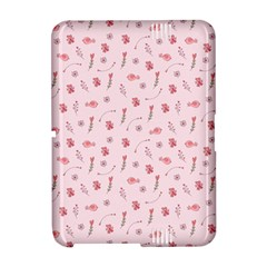 Cute Pink Birds And Flowers Pattern Amazon Kindle Fire (2012) Hardshell Case