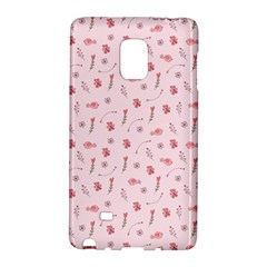 Cute Pink Birds And Flowers Pattern Galaxy Note Edge
