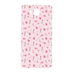 Cute Pink Birds And Flowers Pattern Samsung Galaxy Alpha Hardshell Back Case