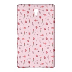 Cute Pink Birds And Flowers Pattern Samsung Galaxy Tab S (8.4 ) Hardshell Case