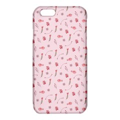 Cute Pink Birds And Flowers Pattern iPhone 6/6S TPU Case