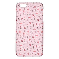 Cute Pink Birds And Flowers Pattern iPhone 6 Plus/6S Plus TPU Case
