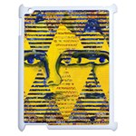Conundrum II, Abstract Golden & Sapphire Goddess Apple iPad 2 Case (White) Front