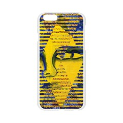 Conundrum II, Abstract Golden & Sapphire Goddess Apple Seamless iPhone 6/6S Case (Transparent)