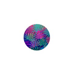 Colored Palm Leaves Background 1  Mini Magnets