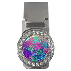 Colored Palm Leaves Background Money Clips (CZ)
