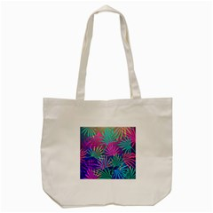 Colored Palm Leaves Background Tote Bag (Cream)