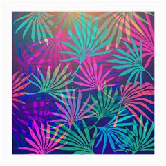 Colored Palm Leaves Background Medium Glasses Cloth (2-Side)
