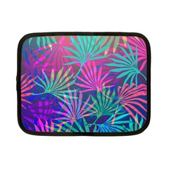 Colored Palm Leaves Background Netbook Case (Small)