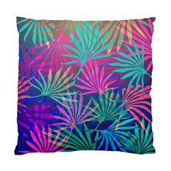 Colored Palm Leaves Background Standard Cushion Case (Two Sides)