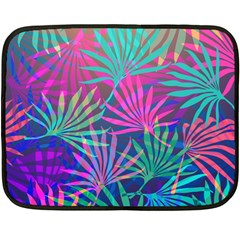 Colored Palm Leaves Background Fleece Blanket (mini)