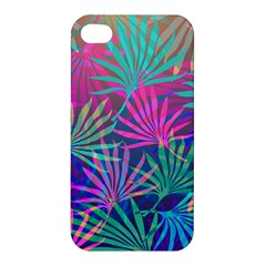 Colored Palm Leaves Background Apple iPhone 4/4S Hardshell Case