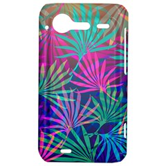 Colored Palm Leaves Background HTC Incredible S Hardshell Case