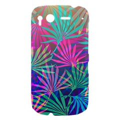 Colored Palm Leaves Background HTC Desire S Hardshell Case