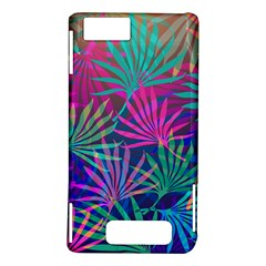 Colored Palm Leaves Background Motorola DROID X2