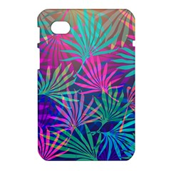 Colored Palm Leaves Background Samsung Galaxy Tab 7  P1000 Hardshell Case