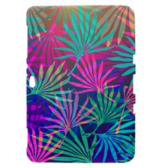 Colored Palm Leaves Background Samsung Galaxy Tab 8.9  P7300 Hardshell Case