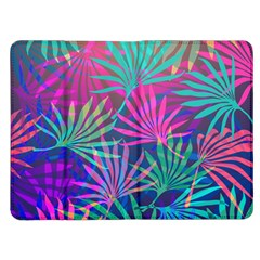 Colored Palm Leaves Background Kindle Fire (1st Gen) Flip Case