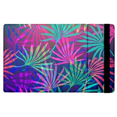 Colored Palm Leaves Background Apple iPad 2 Flip Case