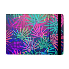 Colored Palm Leaves Background Apple iPad Mini Flip Case