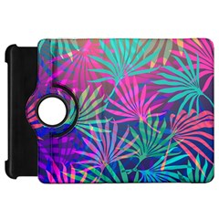 Colored Palm Leaves Background Kindle Fire HD Flip 360 Case