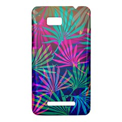 Colored Palm Leaves Background HTC One SU T528W Hardshell Case