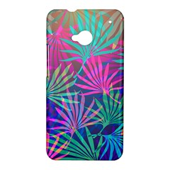 Colored Palm Leaves Background HTC One M7 Hardshell Case