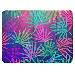 Colored Palm Leaves Background Samsung Galaxy Tab 7  P1000 Flip Case