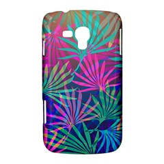 Colored Palm Leaves Background Samsung Galaxy Duos I8262 Hardshell Case