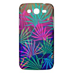 Colored Palm Leaves Background Samsung Galaxy Mega 5.8 I9152 Hardshell Case