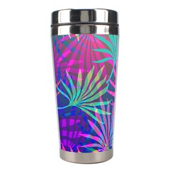 Colored Palm Leaves Background Stainless Steel Travel Tumblers