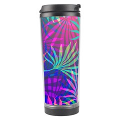 Colored Palm Leaves Background Travel Tumbler