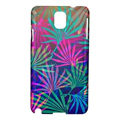 Colored Palm Leaves Background Samsung Galaxy Note 3 N9005 Hardshell Case