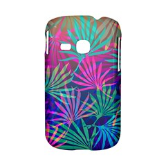Colored Palm Leaves Background Samsung Galaxy S6310 Hardshell Case