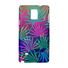 Colored Palm Leaves Background Samsung Galaxy Note 4 Hardshell Case