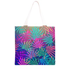 Colored Palm Leaves Background Grocery Light Tote Bag