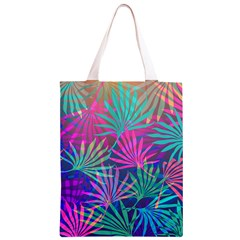 Colored Palm Leaves Background Classic Light Tote Bag