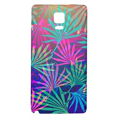 Colored Palm Leaves Background Galaxy Note 4 Back Case