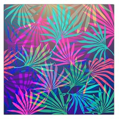 Colored Palm Leaves Background Large Satin Scarf (Square)