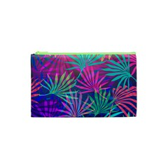 Colored Palm Leaves Background Cosmetic Bag (XS)