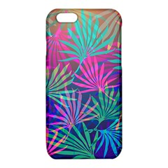 Colored Palm Leaves Background iPhone 6/6S TPU Case