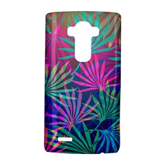 Colored Palm Leaves Background LG G4 Hardshell Case