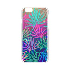 Colored Palm Leaves Background Apple Seamless iPhone 6/6S Case (Transparent)
