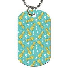 Summer Pineapples Fruit Pattern Dog Tag (Two Sides)