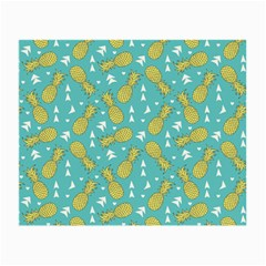 Summer Pineapples Fruit Pattern Small Glasses Cloth