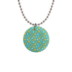 Summer Pineapples Fruit Pattern Button Necklaces
