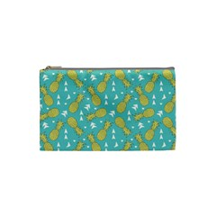 Summer Pineapples Fruit Pattern Cosmetic Bag (Small)