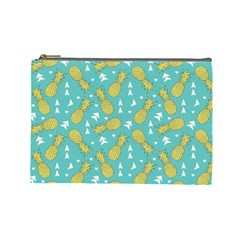 Summer Pineapples Fruit Pattern Cosmetic Bag (Large)