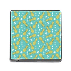 Summer Pineapples Fruit Pattern Memory Card Reader (Square)